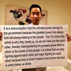 Power to the people... All people. Political parties are constructs designed to divide us.