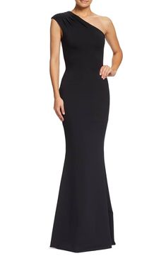 087a9fff73e5c Dress the Population Eva One-Shoulder Gown (Nordstrom Exclusive)