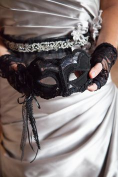 Masquerade wedding  //  wren photography....I don't think I would want to do this, but it is a cool idea!!! :)