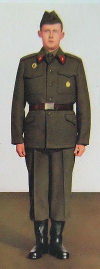1959 pattern Czechoslovak People's Army (ČSLA) enlisted soldiers' summer service uniform.