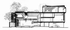 Hirsch Residence - Building Section - Original Presentation Drawing by kelviin, via Flickr