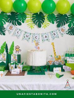 Kit Imprimible Selva Fiesta Imprimibles Safari Party Jungle Theme Parties