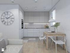 WSZĘDZIE BLISKO - Średnia otwarta kuchnia w kształcie litery l w aneksie z oknem, styl nowoczesny - zdjęcie od UTOO- pracownia architektury wnętrz i krajobrazu