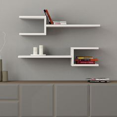 Fork Double Wall Shelves