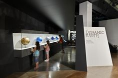 Visitors engaged with the stages of planet earth globes