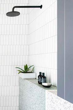neat idea to do a ledge in the shower (rather than the popular niche) for storing bottles & such Modern Master Bathroom, Minimalist Bathroom, Bathroom Storage, Bathroom Interior, Design Rustique, Bathroom Pictures, Bathroom Ideas, Bathroom Showers, Shower Ideas