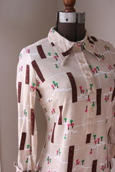 Vintage TGL Stockholm cotton button down shirt with by fuzzymama, $18.00