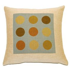French Woven Jaquard Dot Decorative Pillow
