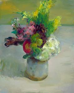 Marc Whitney Floral Bouquet with Red Flower 21st century