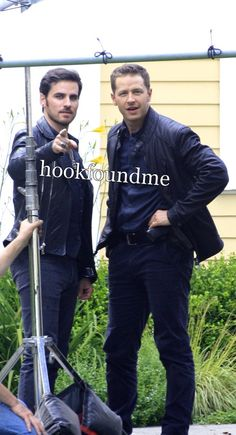 Colin and Josh on set