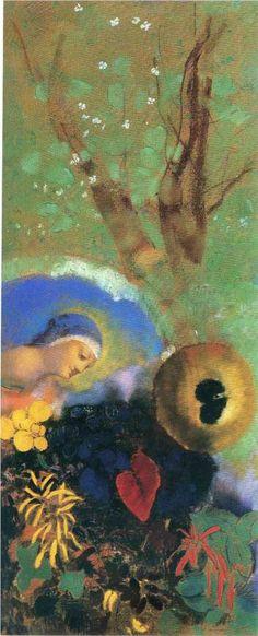 Homage to Leonardo da Vinci 1908 - Odilon Redon - oil painting reproduction Gustav Klimt, Matisse, Odilon Redon, Kunst Online, Love Art, Oeuvre D'art, Painting Inspiration, Les Oeuvres, Art History