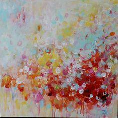Arte de pared de pintura pintura abstracta colorida por artbyoak1