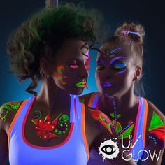Amazon.com : UV Glow Blacklight Face and Body Paint 0.34oz - Set of 6 Tubes - Neon Fluorescent : Blacklight Body Paint : Beauty