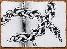 Punzel~Zentangle~Maria Thomas.  Actually Rick Roberts initials are on this one.