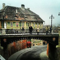 Minciunilor Bridge, Sibiu..Romania Best Places To Travel, Best Cities, Places To See, The Beautiful Country, Beautiful Places, Sibiu Romania, Europe Street, Romania Travel, Bucharest