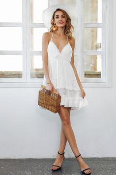 4d40028038 Shop Backless Halter White Dress