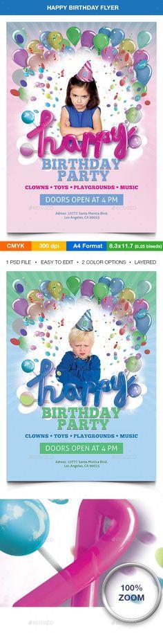 Birthday Bash Flyer - Template Birthday bash, Flyer template and - birthday flyer template