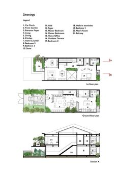 Gallery of Terrace House Renovation / Design Atelier – 11 – Home Renovation Villa Plan, Layouts Casa, House Layouts, Terraced House, Small Floor Plans, House Floor Plans, Apartment Layout, Apartment Design, New Housing Developments