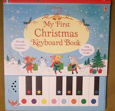 """My first Christmas keyboard book"" in Usborne Quicklinks Childrens Books, Merry, Movie Posters, Christmas Carols Songs, Piano, World, Children's Books, Children Books, Kid Books"