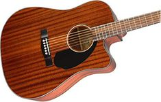 Fender All Mahogany Acoustic-Electric Guitar - Dreadnaught Body Style - Natural Finish