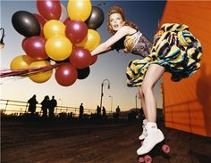 David LaChapelle - I do love balloons and roller skates...