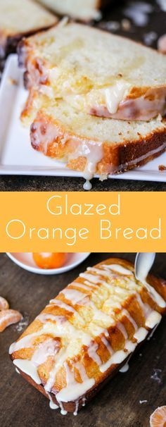 Glazed Orange Bread is full of fresh squeezed juice, baked to perfection, then covered with a sweet orange glaze. It's the perfect quick bread! #ad #100daysofsunshine