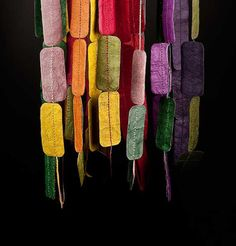 """I'd reuse this idea to make a """"beaded"""" curtain.  Easier than stringing all those beads.  Love the colors."""