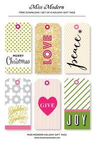 Free Gift Tag - dear miss modern