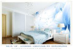 Preço para 1 M ², Lily de rosa azul mural 3d stereotelevision beijingqiang papel de parede quarto papel de parede 3d papel de parede em Papéis de parede de Melhorias na casa no AliExpress.com