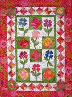 Bright and Pretty Flowers for My Mother Quilt Pattern (Advanced Beginner, Wall Hanging) Quilting Blogs, Quilting Projects, Quilting Ideas, Mccall's Quilting, Crazy Quilting, Houston Quilt Show, Applique Quilt Patterns, Hand Applique, Barn Quilts