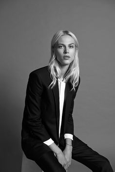 wmagazine:  The French model-turned-actress Aymeline Valade...