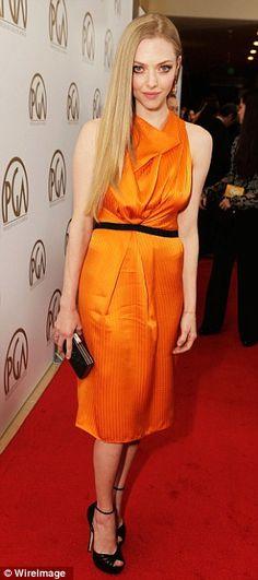 Amanda Seyfried in Roland Mouret Resort 2013 | Producers Guild Jan 2013