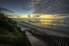 Sunset at San Elijo State Beach near Encinitas, California. Photo by Paul W. Koester.