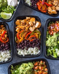 {NEW!} It may be snowing depending on where you live ❄️ but regardless of the weather, The weekends are a great time for meal prepping! This time-saving meal-prep #chicken burrito #bowls recipe will help you get healthy lunch on the table at work, school or home quickly without sacrificing flavor or your hard-earned money!   Get the full recipe on the site here ➡️ @gimmedelicious or GimmeDelicious.Com #healthy #mealprep #food #recipes #fit #fitness #weightloss #healthymealprep #howtome