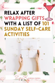 Are you looking for a list of self-care activities to do on a Sunday or after wrapping presents for Christmas? Here are 101 self-care Sunday ideas to add to your self-growth bucket list. This is great if you're looking to take a break from building your business or looking for something relaxing to do. | #christmasaesthetic | christmas self care challenge | christmas self care list | 12 days of christmas self care Sunday Activities, List Of Activities, Self Care Activities, Sunday Routine, Dying Your Hair, Wrapping Presents, Social Media Detox, Christmas Aesthetic, Screwed Up