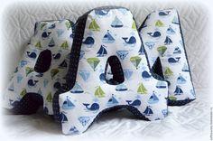 Купить Морские подушки для Димы - буквы подушки, мягкая страна, кондратова, анастасия кондратова