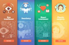 Flat Medical and Healthcare Banners by painterr on @creativemarket