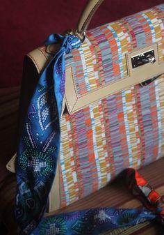 Hermes Kelly Bag 32cm Blue Atoll Togo Palladium Hardware | Hermes ...