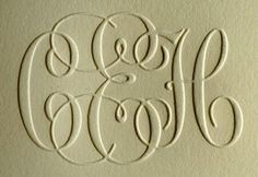 Embossed Monogram is still regal Cuttlebug Embossing Folders, Blind Embossing, Creative Lettering, Diy Letters, Paper Trail, Embossed Cards, Foil Stamping, Scrapbook Cards, Scrapbooking