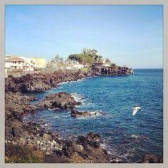 Litorale di Acitrezza. Catania. Sicilia