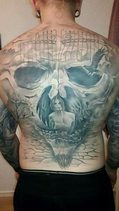 #tattoo #skull #bagtattoo #deamon