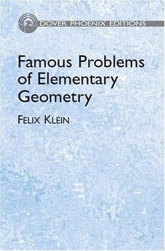 Famous Problems Of Elementary Geometry - Klein Felix in Lkkoller's book collection » CLZ Cloud for Books