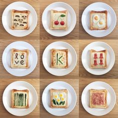 fabulous and wonderful breakfast plates for kids - Delicious Food Cute Food, Good Food, Yummy Food, Healthy Breakfast For Kids, Food Art For Kids, Bread Shaping, Breakfast Plate, Food Decoration, Aesthetic Food