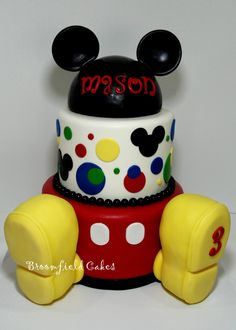 Mickey Mouse birthday Cakes with shoes | Mickey Cake — Children's Birthday Cakes