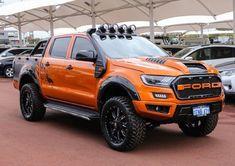 The Orange 🍊 Ford Monster Ford Ranger Truck, Ford Ranger Raptor, 2019 Ford Ranger, Ford Pickup Trucks, Ford Raptor, 4x4 Trucks, Diesel Trucks, Lifted Trucks, Ford Ranger Modified