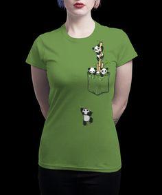 T-shirt 'Pocket Pandas' designed by BekaDesigns, printed by Qwertee