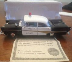 RARE NATIONAL MOTOR MUSEUM MINT 1958 FORD FAIRLANE RYE POLICE DIECAST CAR MINT