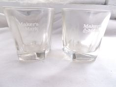 2 Makers Mark Bourbon Drink Glasses #MakersMark