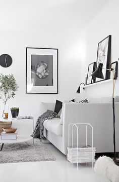 Shelf above the sofa.
