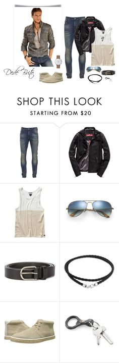 """""""Sem título #1717"""" by dedebrito ❤ liked on Polyvore featuring Scotch & Soda, Superdry, RVCA, Ray-Ban, Dsquared2, Bling Jewelry, Calvin Klein, Junghans, men's fashion and menswear"""
